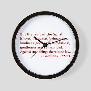 Galatians--5-22-23 Wall Clock