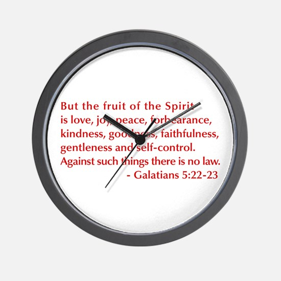 Galatians--5-22-23 Wall Clock