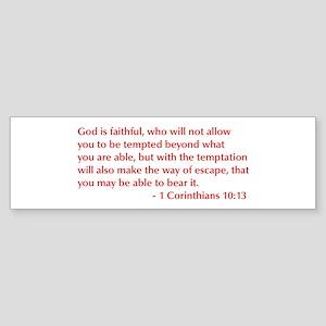 1-Corinthians-10-13-opt-burg Bumper Sticker