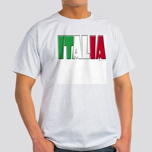 Word Art Italia Ash Grey T-Shirt