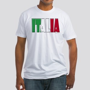 Word Art Italia Fitted T-Shirt