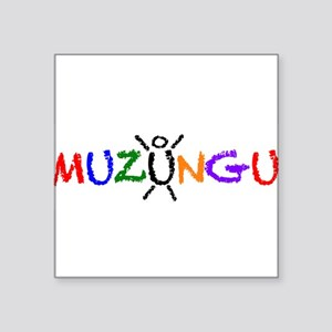 colorful muzungu Sticker