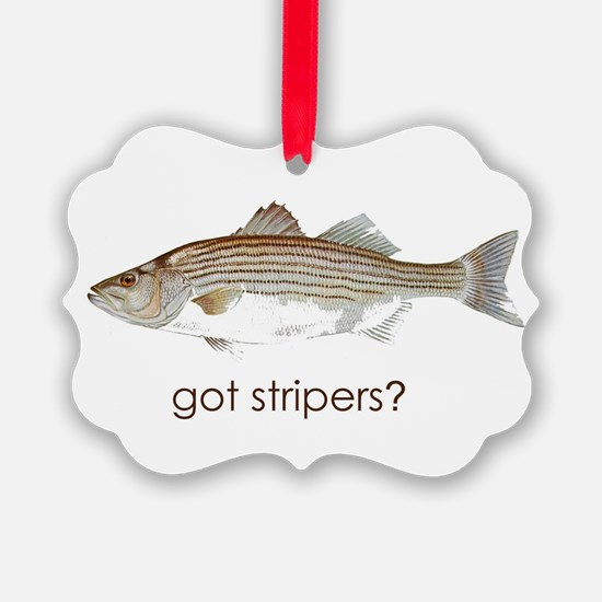 got stripers1.jpg Ornament