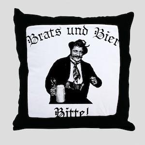 Brats und Bier Throw Pillow