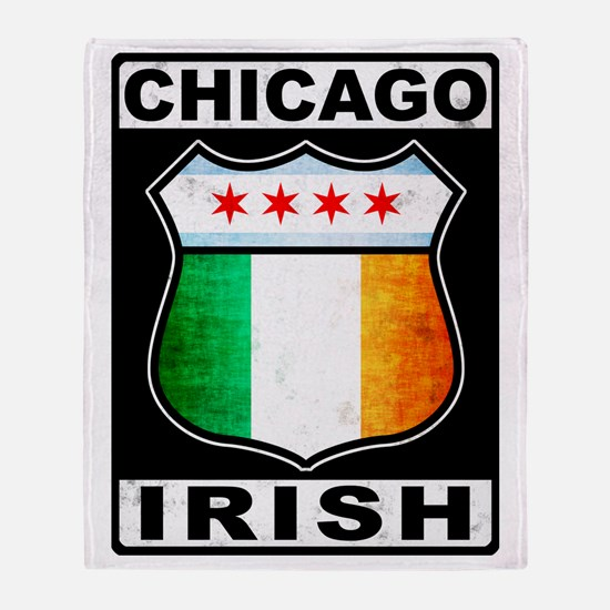 Chicago Irish American Sign Throw Blanket