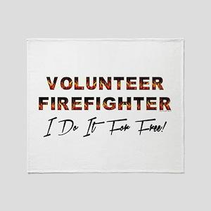 Volunteer Firefighter Throw Blanket