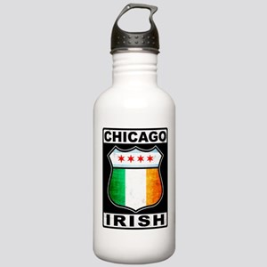 Chicago Irish American Sign Water Bottle