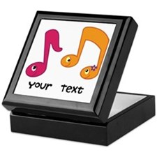Personalized Music Notes Keepsake Box
