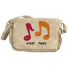 Personalized Music Notes Messenger Bag