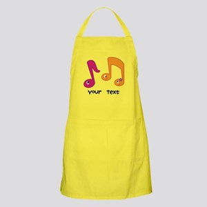 Personalized Music Notes Apron