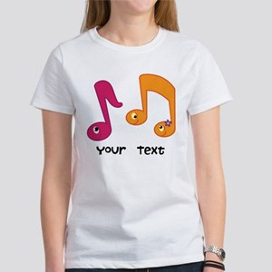 Personalized Music Notes Women's T-Shirt