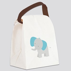 Cartoon Elephant Canvas Lunch Bag