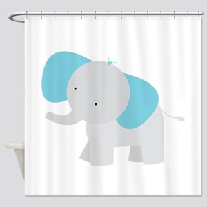 Cartoon Elephant Shower Curtain