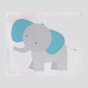 Cartoon Elephant Throw Blanket
