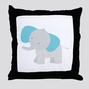 Cartoon Elephant Throw Pillow