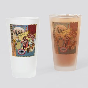 Vintage Western cowgirl collage Drinking Glass