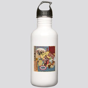 Vintage Western cowgirl collage Water Bottle