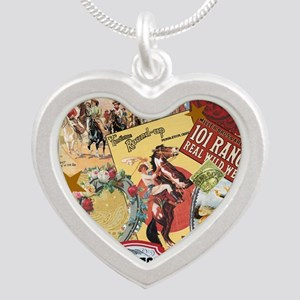 Vintage Western cowgirl collage Necklaces