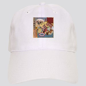 Vintage Western cowgirl collage Baseball Cap