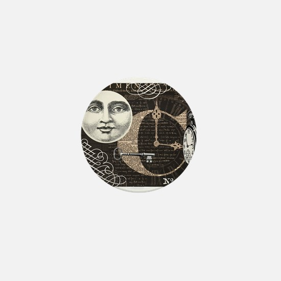 Modern Vintage Steampunk collage Mini Button