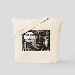 Modern Vintage Steampunk collage Tote Bag