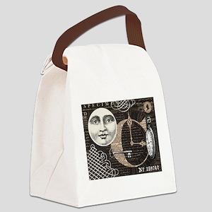 Modern Vintage Steampunk collage Canvas Lunch Bag