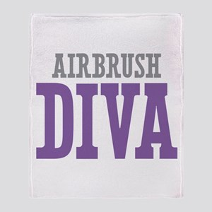 Airbrush DIVA Throw Blanket