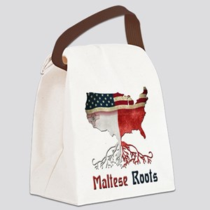 American Maltese Roots Canvas Lunch Bag