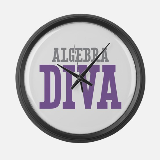 Algebra DIVA Large Wall Clock