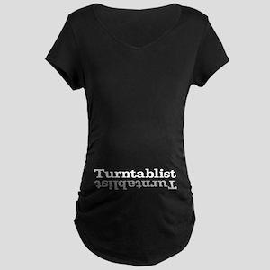 Turntablist Maternity Dark T-Shirt