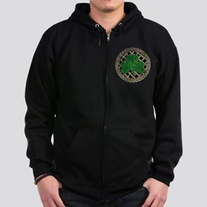 Shamrock And Celtic Knots Zip Hoodie