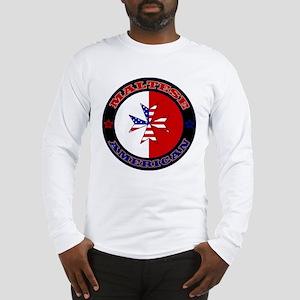 Maltese American Cross Ensign Long Sleeve T-Shirt