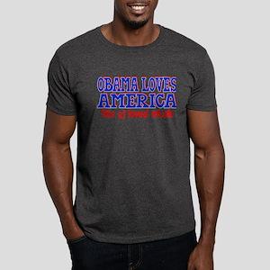 Obama Loves America Dark T-Shirt