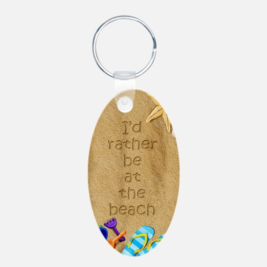 Rather be at Beach Keychains