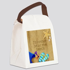 Rather be at Beach Canvas Lunch Bag