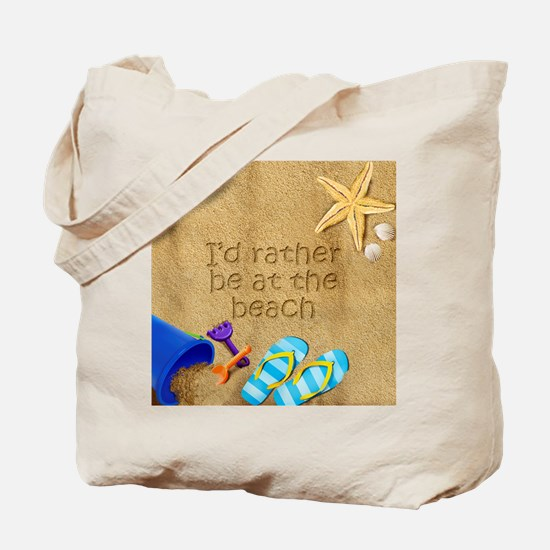Rather be at Beach Tote Bag 2-Sided