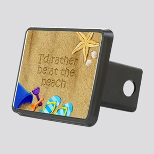 Rather be at Beach Rectangular Hitch Cover