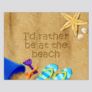 Rather be at Beach Small Poster