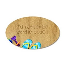 Rather be at Beach Wall Decal