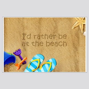 Rather be at Beach Large Poster