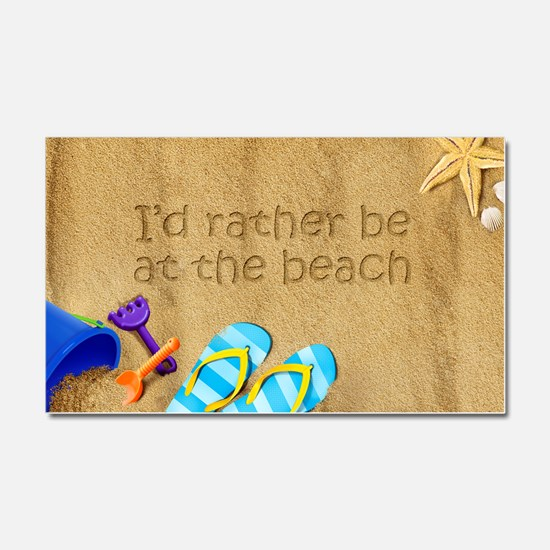 Rather be at Beach Car Magnet 20 x 12