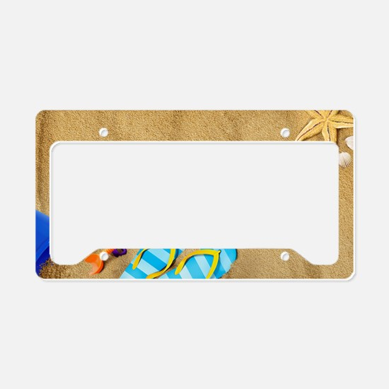 Rather be at Beach License Plate Holder