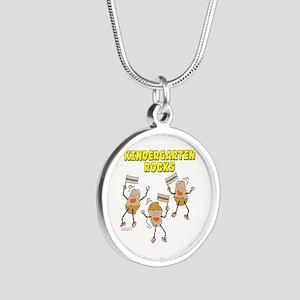 Kindergarten Rocks Silver Round Necklace