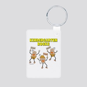 Kindergarten Rocks Aluminum Photo Keychain