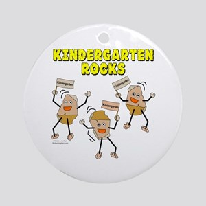 Kindergarten Rocks Ornament (Round)