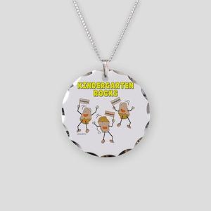 Kindergarten Rocks Necklace Circle Charm