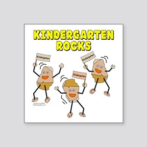 "Kindergarten Rocks Square Sticker 3"" x 3"""