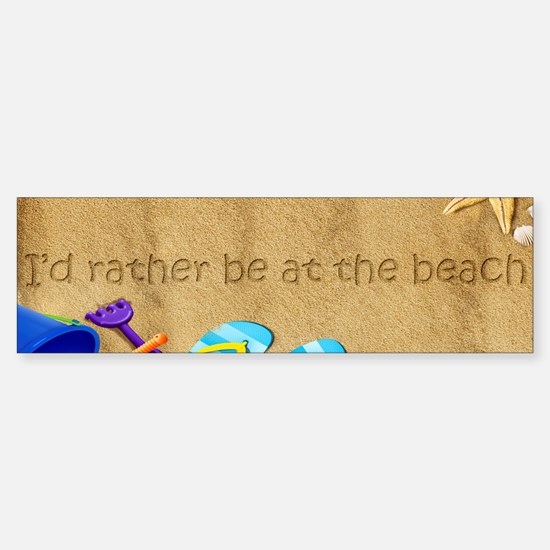 Rather be at Beach Sticker (Bumper)