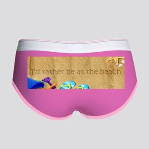 Rather be at Beach Womens Boy Brief