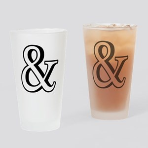 &, ampersand sign with shadow Drinking Glass
